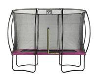 Trampolin EXIT Silhouette rechteckig + Sicherheitsnetz 214x305cm pink