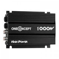 oneConcept A4 - Car HiFi Verstärker , 4-Kanal Auto-Endstufe , Car Amplifier , 4 x 30 Watt RMS-Leistung , Hoch- und Tiefpass-Filter , Frequenzgang: 20 Hz bis 20 kHz , schwarz