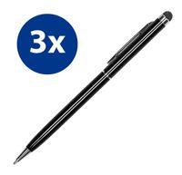 3x Stylus Pen Eingabestift für iPhone iPad Smartphone Tablet Handy kapazitiver Touchscreen Stift Tabletstift schwarz