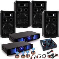 Karneval PA Anlage mit USB Mixer und vier Boxen DJ-Alaaf