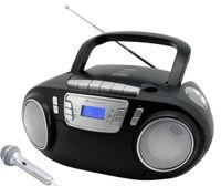 soundmaster CD-Radio Rekorder mit Mikrofon - Schwarz ; SCD5800SW