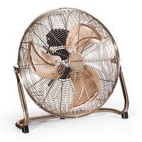 TROTEC TVM 17 Bodenventilator Kupfer Design Ventilator/ Windmaschine | 3 Geschwindigkeitsstufen | 100 Watt Leistung | Durchmesser 45 cm
