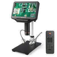 Andonstar AD407 3D HDMI Digitalmikroskop 7 '' Bildschirm Elektronisches Lötmikroskop für die Telefonreparatur mit verstellbarem Ständer
