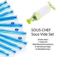 LA VAGUE SOUS-CHEF Sous Vide Set (Handpumpe, Beutel, Klemmen)