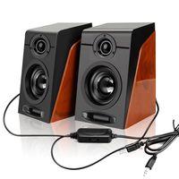 PC Lautsprecher Set Stereo Bass Speaker Multimedia Boxen für Computer Laptop Computer USB Lautsprecher Bass Stereo Subwoofer Sound Box