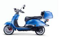 Motorroller, Moped, Mofa 50 ccm Klassik Azuro 4.0 blau Sitz schwarz