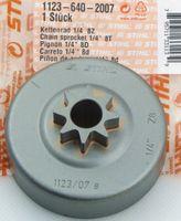 "Stihl CARVING 11236402007 Kettenrad 1123 640 2007 Sternrad 1/4"" 8Z MS170 MS180 MS181 MS190 MS191"