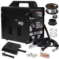 COSTWAY Ampere Schweissgeraet Schweissmaschine FLUX Schutzgas MIG 130 Elektrodenschweissgeraet Fuelldraht Schwarz