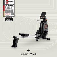 SportPlus Rudergerät, Ruderergometer, Rudermaschine klappbar, Heimtrainer mit App-Steuerung, leises Magnetbremssystem