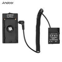 Andoer NP-F970 F750 Batterieplattenhalter-Adapter + EN-EL14 Dummy-Batteriekoppler Kompatibel mit Nikon D3100 / D3200 / D5100 / D5200 / COOLPIX P7000 / P7100 / P7700 / P7800-Kameras