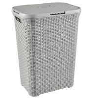 Wäschekorb Rattan Wäschebox Wäschekörbe Wäschesammler 60L