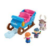 Fisher-Price Little People Frozen Kristoffs Schlitten, Eiskönigin Spielfiguren-Set