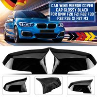 2x Glanz Spiegelkappen Spiegel ABS Für BMW F20 F21 F22 F30 F32 F36 X1 F87 M3
