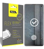 3x Samsung Galaxy S10 Schutzfolie Folie, 100% Displayabdeckung, dipos Flex