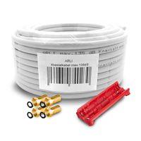 20m ARLI Koaxialkabel max. 135dB + 4x F-Stecker vergoldet + Abisoliermesser