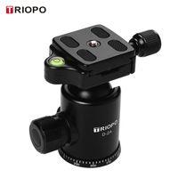 TRIOPO D-2A Professioneller Kugelkopf Panoramakopf aus Aluminiumlegierung 1/4 Zoll Schraubbefestigung für die meisten DSLR-ILDC-Kameras max. Tragfähigkeit 10kg