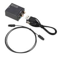 Digitaler Toslink SPDIF-Koax-zu-Analog-Cinch-Audio-Adapter Mit Optischem USB-Kabel