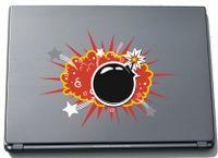 Laptopaufkleber Laptopskin Comic 110 - Lustiges Motiv Boom - 150 mm Aufkleber
