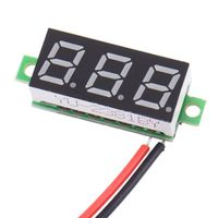 1 Stück LED-Auto-Voltmeter Blau LED Auto Voltmeter