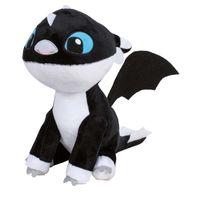 Dragons Nightlights Baby Drache schwarz mit blauen Augen Plüschtier