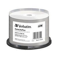 Verbatim DataLifePlus Professional - 50 x DVD-R - 4.7 GB 16x - weiß - mit Tintenstrahldrucker bedruckbare Oberfläche, breite bedruckbare Oberfläche - Spindel