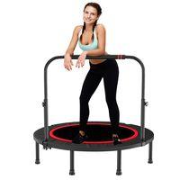 Sunnyme Fitness Trampolin Faltbar Indoor / Outdoor Minitrampolin Jumping Ø101cm 300kg