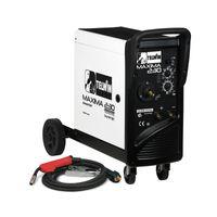 Telwin Elements MAXIMA 230 Multiprozess SYNERGIC Schutzgas Schweißgerät MIG/MAG WIG MMA Fülldraht 20-220A, 230 V, Set inkl. Schlauchpaket und Schweißgarnitur