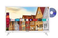 Telefunken XH24K550D-W 24 Zoll Fernseher / Smart TV (HD Ready, HDR, Triple-Tuner, DVD-Player) - 6 Monate HD+ inklusive