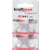Kraftmax 4er Pack Knopfzelle Typ 392 ( AG3 / LR736 / LR41 ) Hochleistungs- Batterie / 1,5V  Uhrenbatterie für professionelle Anwendungen - Neuste Generation
