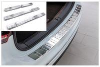 Ladekantenschutz und Einstiegsleisten für VW Tiguan 2 AD1 Abkantung V2A 2016-, Farbe:Silber