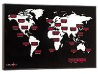 NEUHEIT Digitale WeltzeitUhr BUSINESS Landkarten-Optik