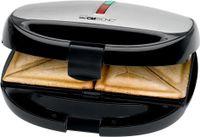 CLATRONIC Sandwich Waffel Grill ST/WA 3670 schwarz inox Sandwichtoaster 800 Watt
