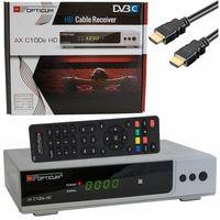 Digital HD Kabel Receiver OPTICUM C100 SILBER