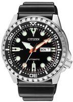 Citizen NH8380-15EE Mechanis Uhr Herrenuhr Kunststoff Datum Schwarz