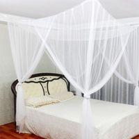 4 Eckpfosten hängendes Bett Baldachin Volantnetz Moskitonetz Indoor Outdoor