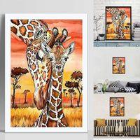 Mllaid -DIY 5D Diamond Painting Kits Full Drill Giraffe 5D Full Diamond Painting DIY Embroidery Cross Stitch Wall Decor Gift