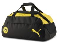 PUMA BVB FINAL Teambag M PUMA BLACK-CYBER YELLOW -