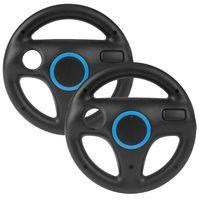 2 Stücke Mario Kart Wii Lenkrad, Wii Racing Wheel Lenkrad für Nintendo Wii Spiele und Wii U Racing Spiele(Schwarz)
