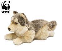 Plüschtier Wolf (25cm, liegend) lebensecht Kuscheltier Stofftier Raubtier