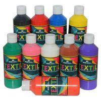 BEJOL Stoffmalfarben Set 10x250ml für helle & dunkle Stoffe