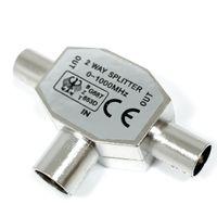 TV-Splitter (T-Verteiler 2x Stecker und 1x Kupplung) - ALT