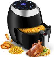 Heißluftfritteuse, 6.5L Heißluft Fritteuse Garraum, Airfryer Fritteuse mit Touch Display, 7 in 1 Multifunktions Heissluftfritteuse, 1800 W Heissluft-fritteusen,80 °C - 200 °C