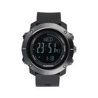 Smartwatch Herren Aarmband Outdoor Smart Digital Fitness Armband Kompass Höhenmesser Barometer Militäruhr 5ATM Wasserdicht