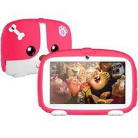 LOZAYI Kinder-Tablet, 7-Zoll-Kinder-Tablet Android 10 Tablet 16 GB ROM Quad-Core-Tablet WiFi-Kinder-Tablet, rot