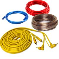 Car-Hifi Verstärker Endstufe Kabelsatz mit Lautsprecherkabel, 10mm²