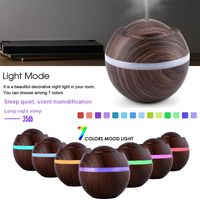 500ml Ultraschall Luftbefeuchter Aroma Diffuser 7 Farben LED Licht Humidifier