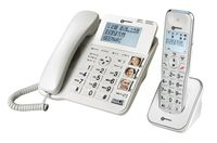 Geemarc AmpliDECT COMBI 295 Combo Seniorentelefon schnurgebunden 30 dB (+Anrufbeantworter+ ) und Zusatz-Dect-Telefon - Deutsche Version