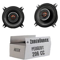 JBL GX402   2-Wege   10cm Koax Lautsprecher - Einbauset für Peugeot 206 CC Heck - JUST SOUND best choice for caraudio