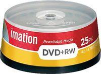 Imation Wiederbeschreibbare DVD - DVD+RW Rohling - 4,70 GB - 4x Schreibgeschwindigkeit - 25er Pack - 120mm - 2 Stunde(n) Maximale Aufnahmezeit