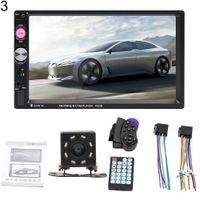 7023B 7-Zoll-2-Din-Autoradio Bluetooth Audio-Video-MP5-Player mit Rückfahrkamera - mit 8-LED-Rückfahrkamera
